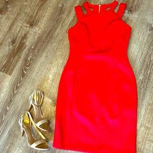 Calvin Klein Red Strappy Dress